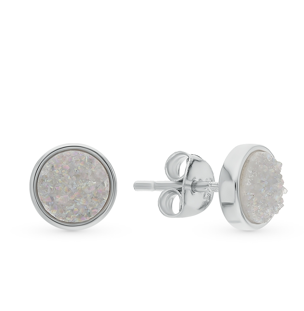 Серебряные серьги с кристаллами в Санкт-Петербурге
