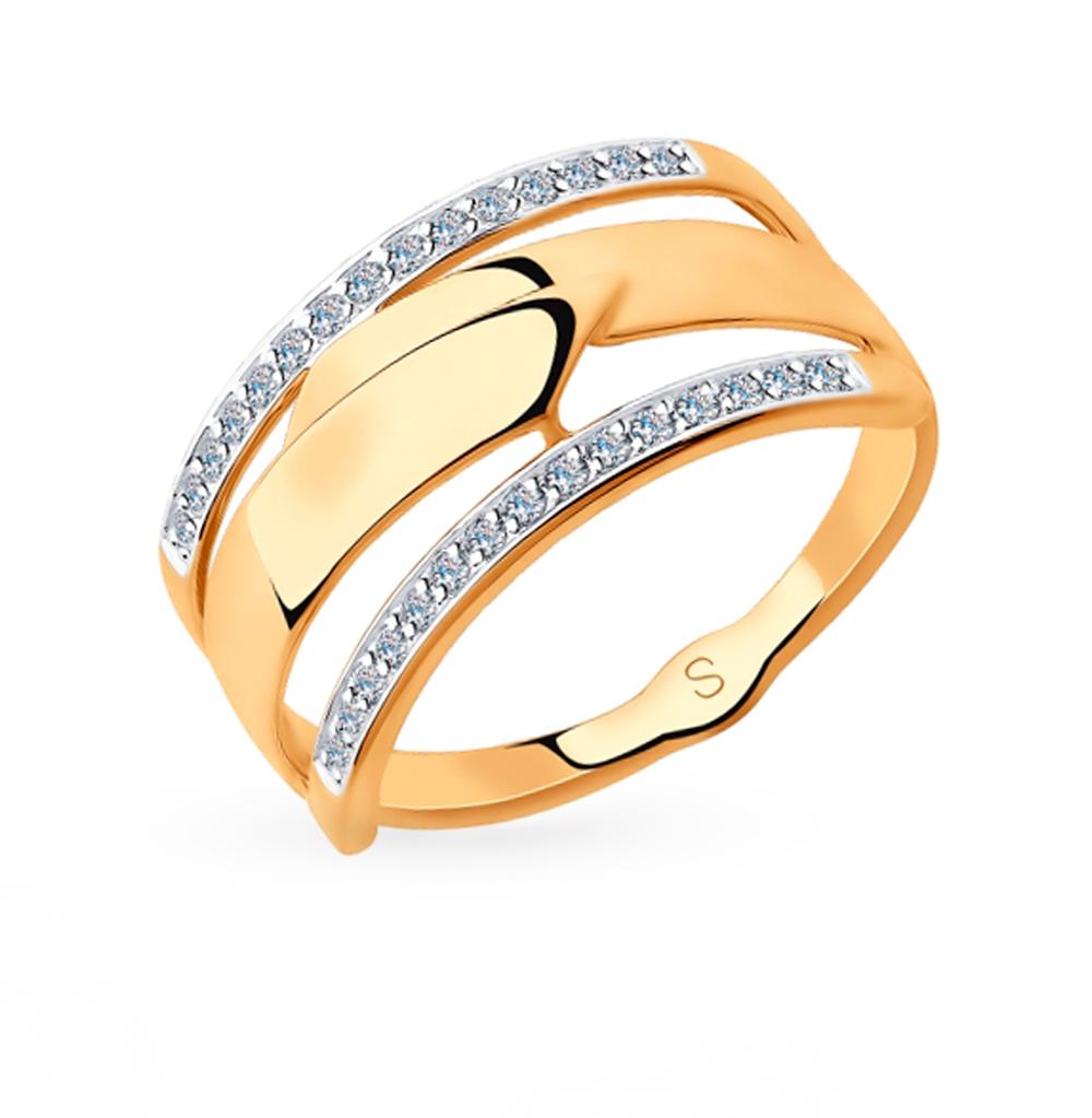 Золотое кольцо с фианитами SOKOLOV 018231 в Екатеринбурге