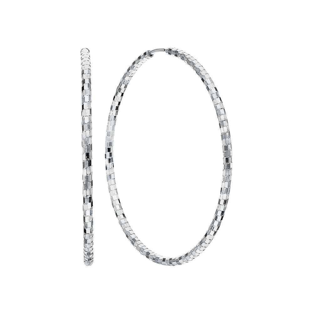 Фото «Серебряные серьги с серебряной вставкой»