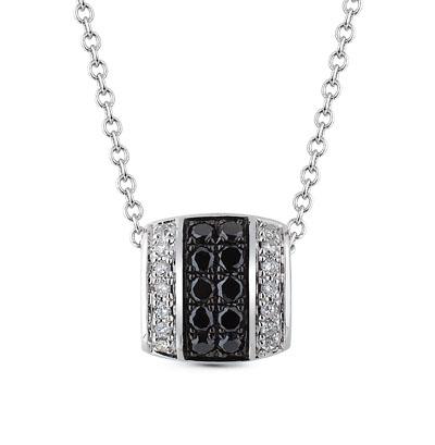 Фото «золотая подвеска с чёрными бриллиантами и бриллиантами»