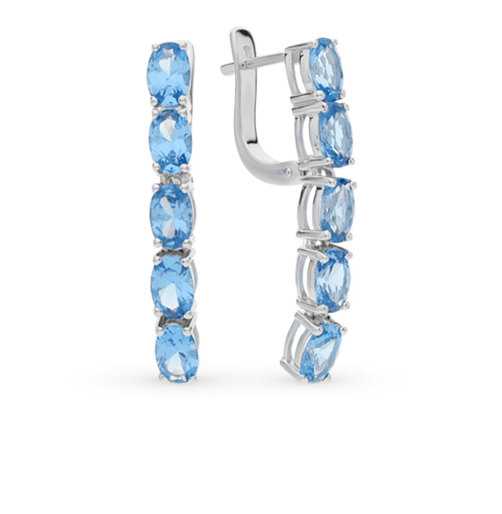 Фото «серебряные серьги с топазами синтетическими»