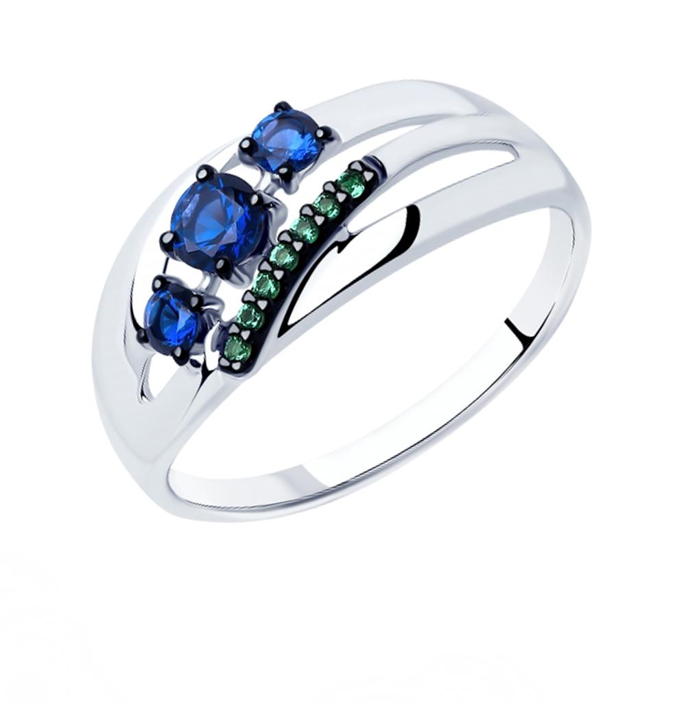 серебряное кольцо с фианитами SOKOLOV 94012915