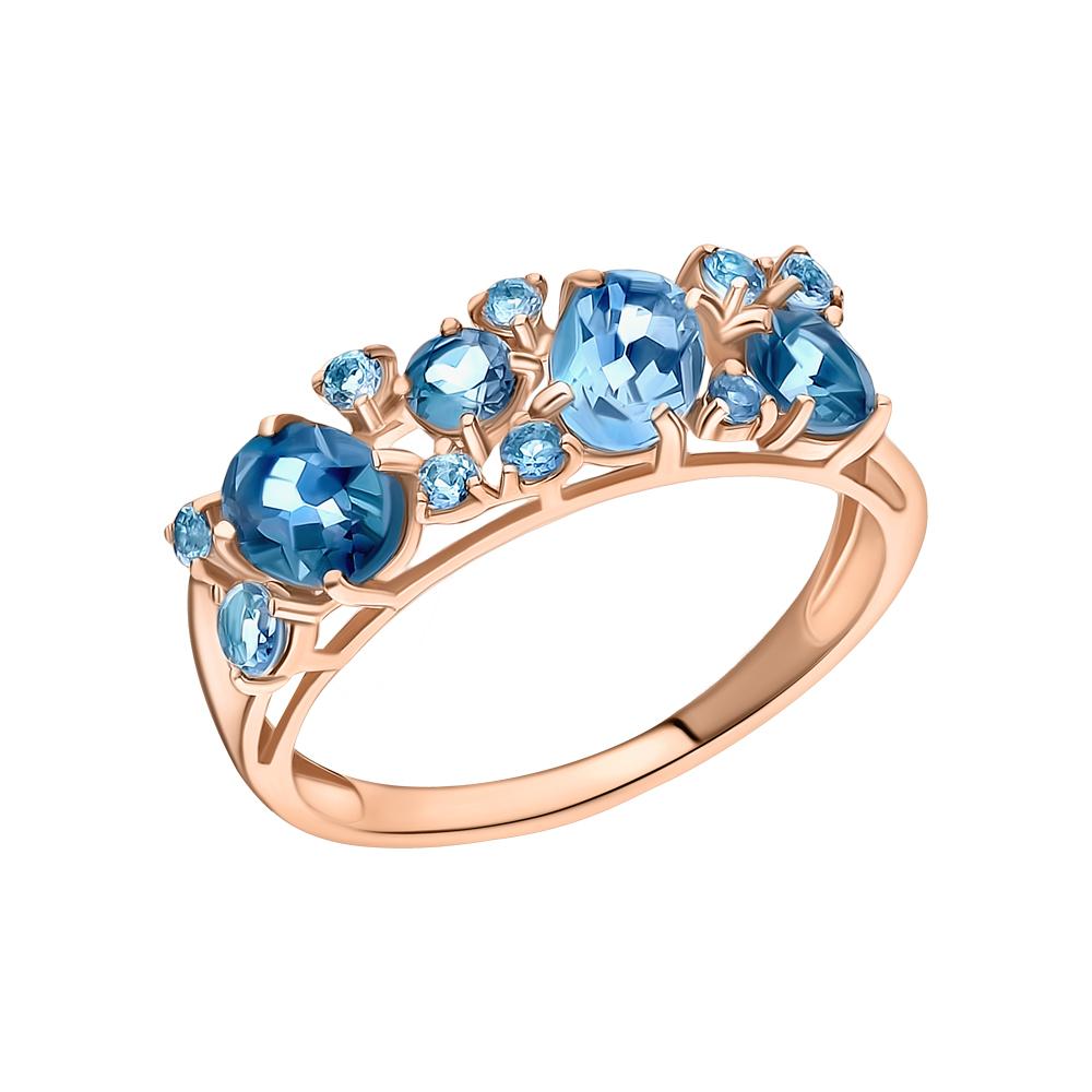 Золотое кольцо с топазами SOKOLOV 714174* в Екатеринбурге