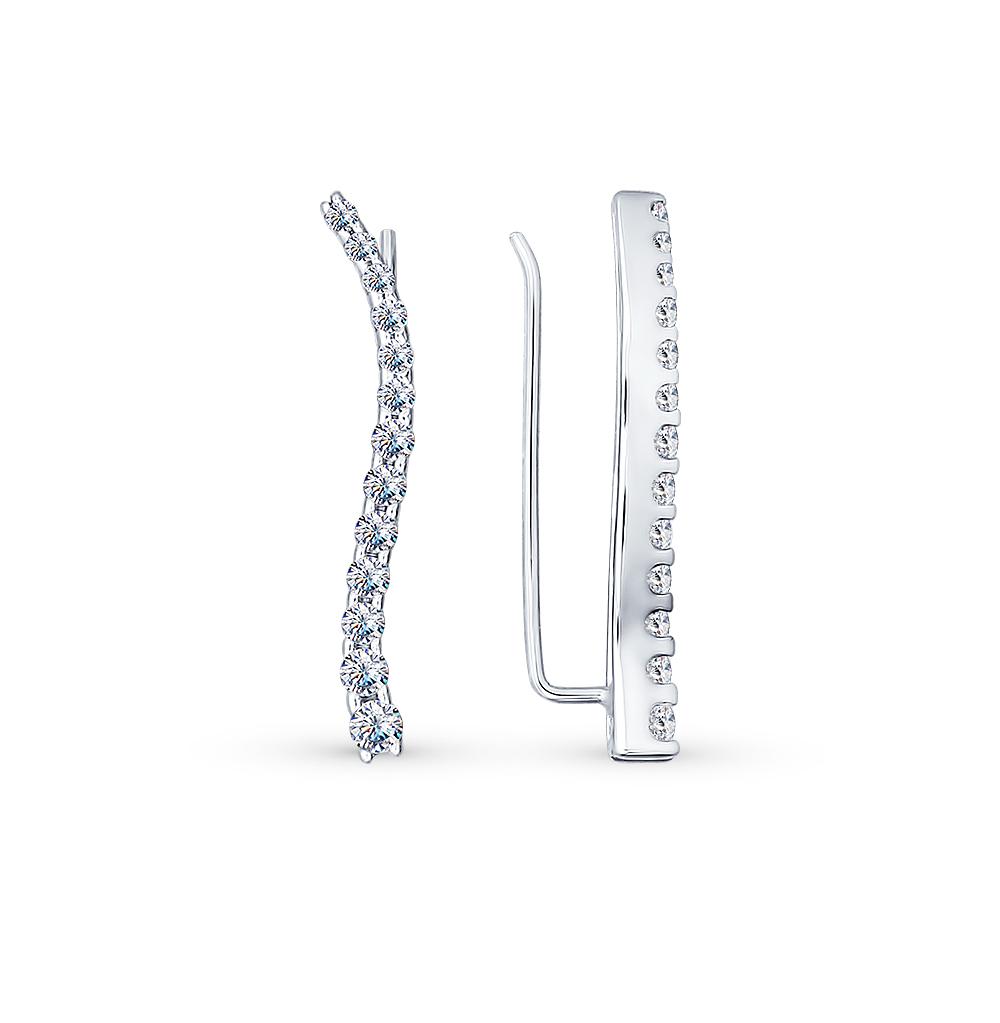 серебряные серьги с фианитами SOKOLOV 94021771