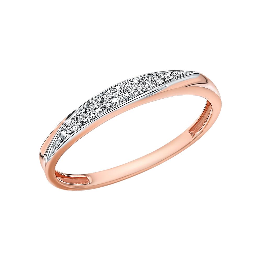 Золотое кольцо с фианитами 1-767-1*: розовое золото 585 пробы, фианит — купить в интернет-магазине SUNLIGHT, фото, артикул 154250