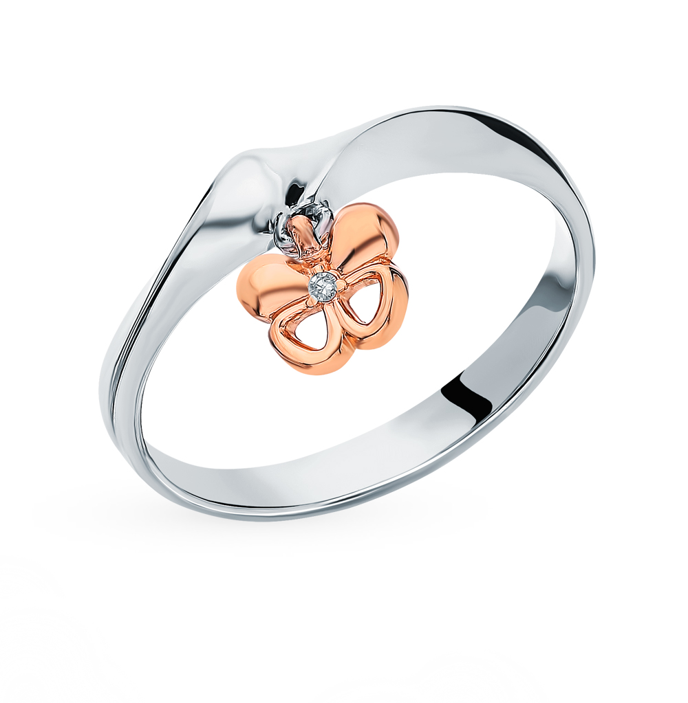 Серебряное кольцо с бриллиантами в Санкт-Петербурге
