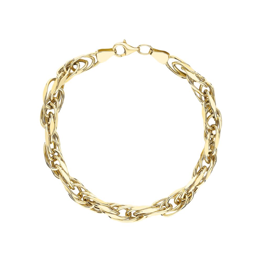Золотой браслет JASMİNE JEWELLERY: жёлтое золото 585 пробы — купить в интернет-магазине SUNLIGHT, фото, артикул 269715