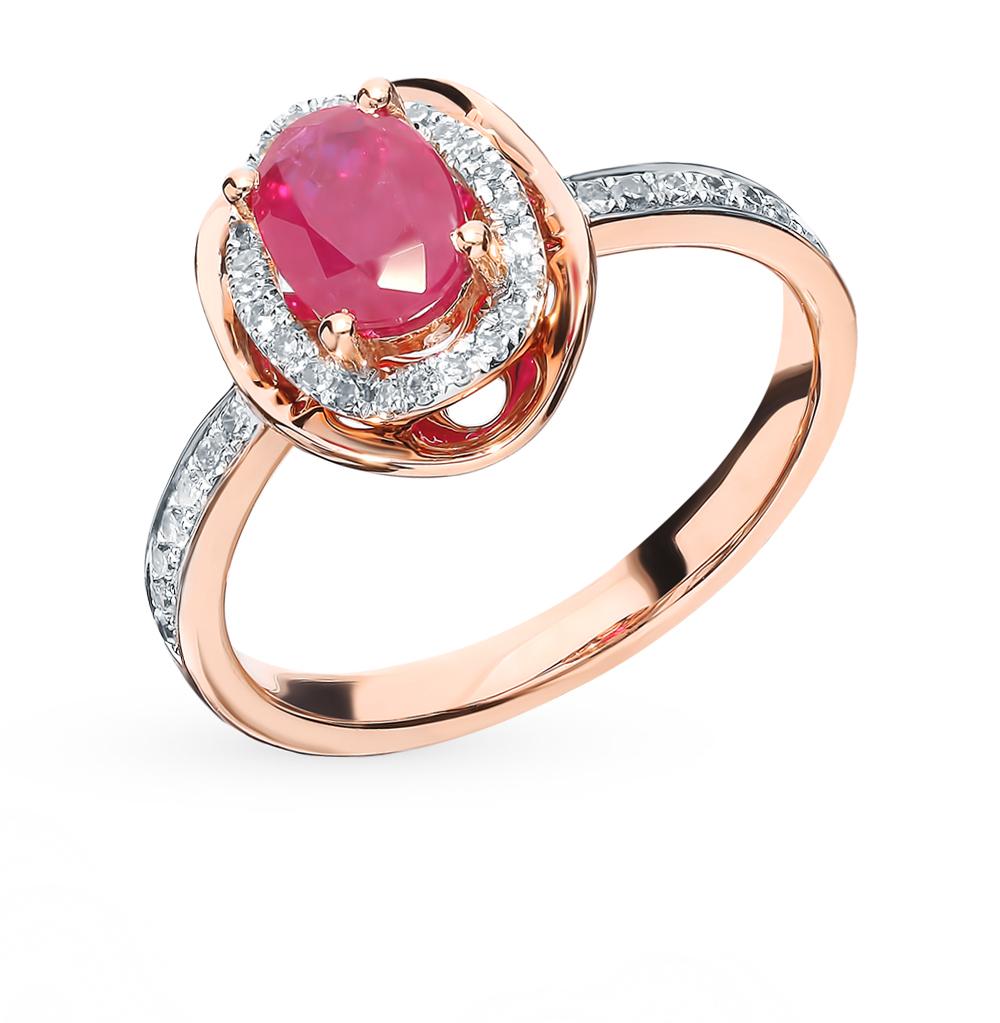 Фото «Золотое кольцо с рубином и бриллиантами»