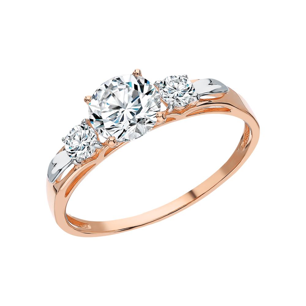 Фото «Золотое кольцо с фианитами swarovski SOKOLOV 81010194*»