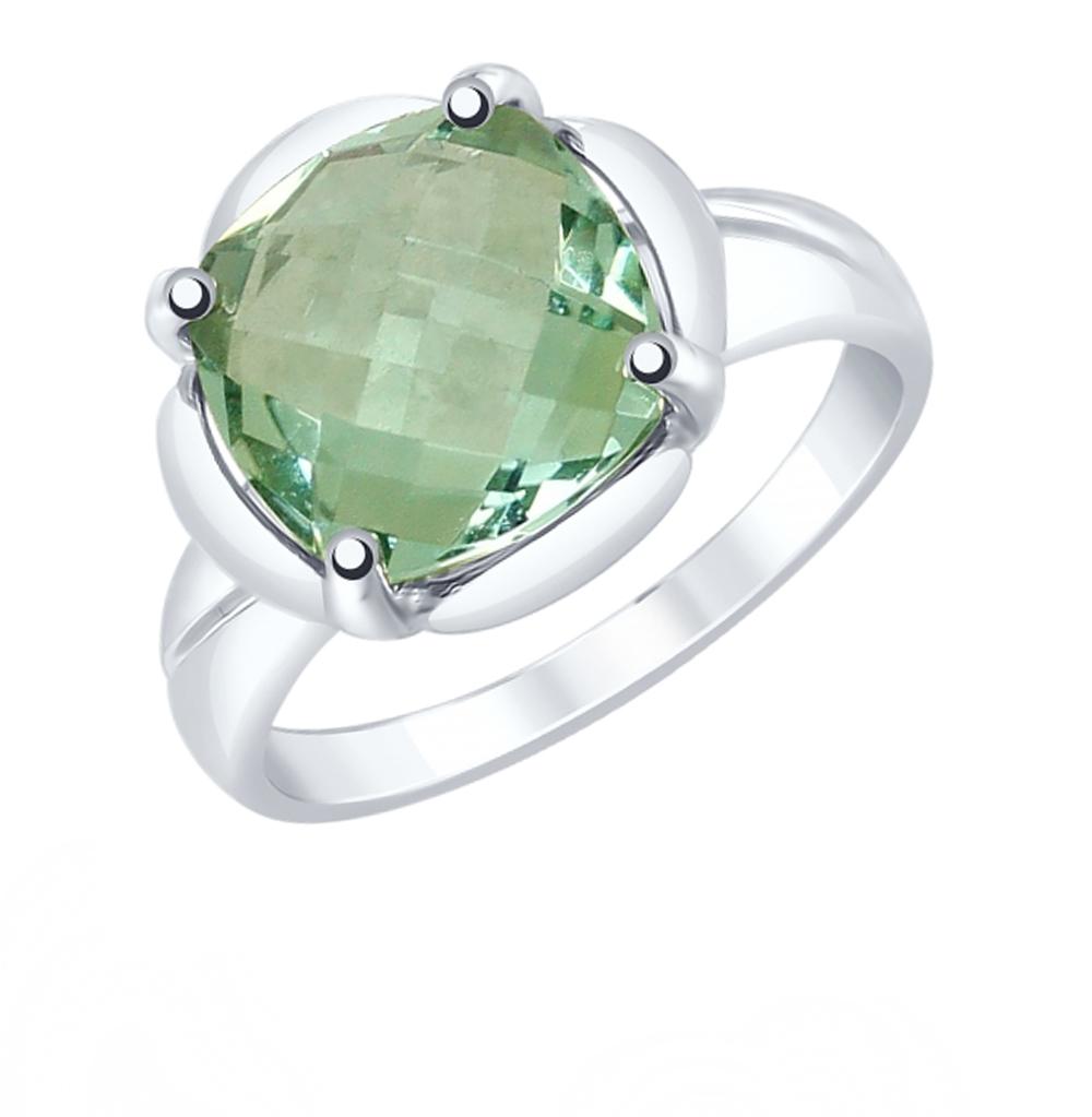 Серебряное кольцо с кварцем SOKOLOV 92011780 в Санкт-Петербурге