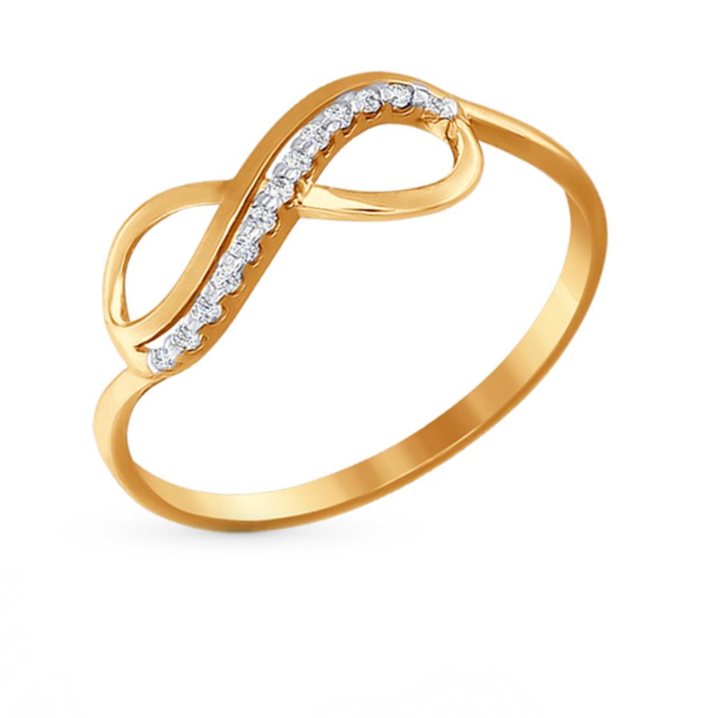золотое кольцо с фианитами SOKOLOV 016622*