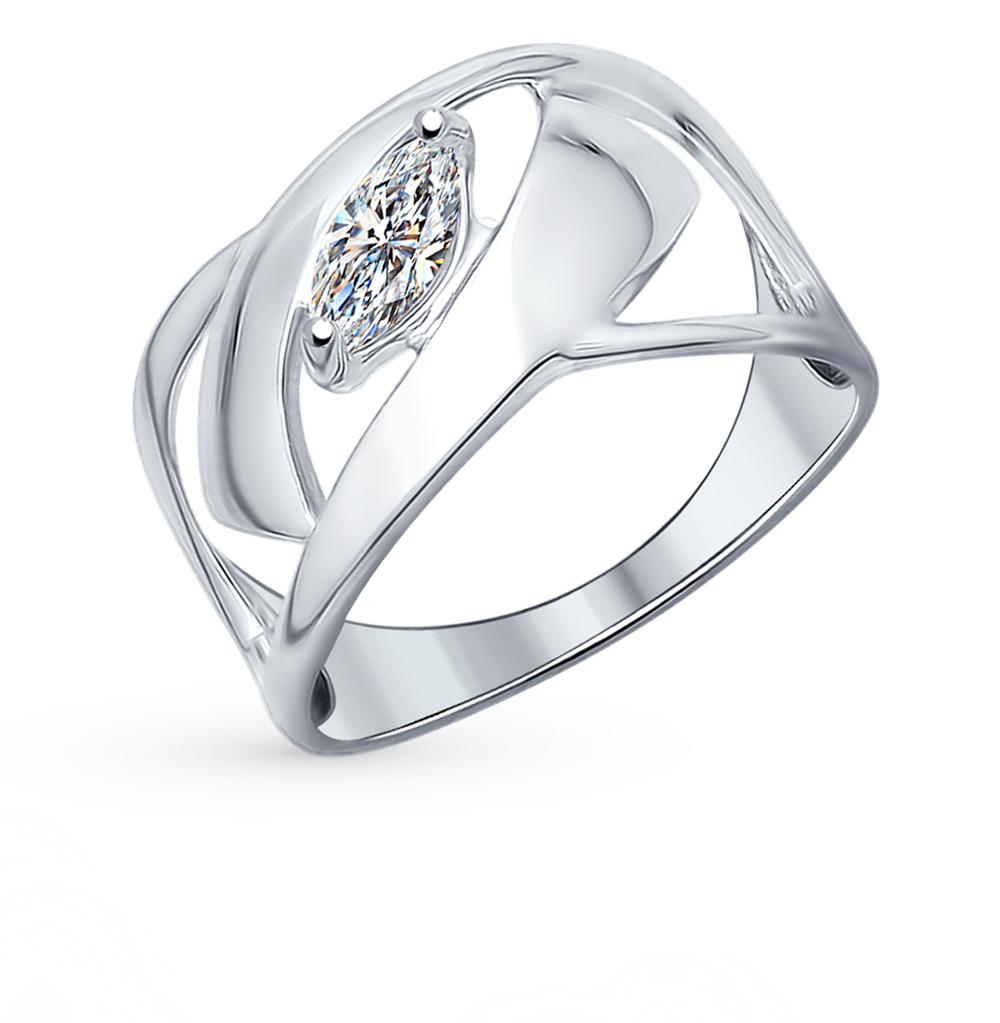серебряное кольцо с фианитами SOKOLOV 94012135