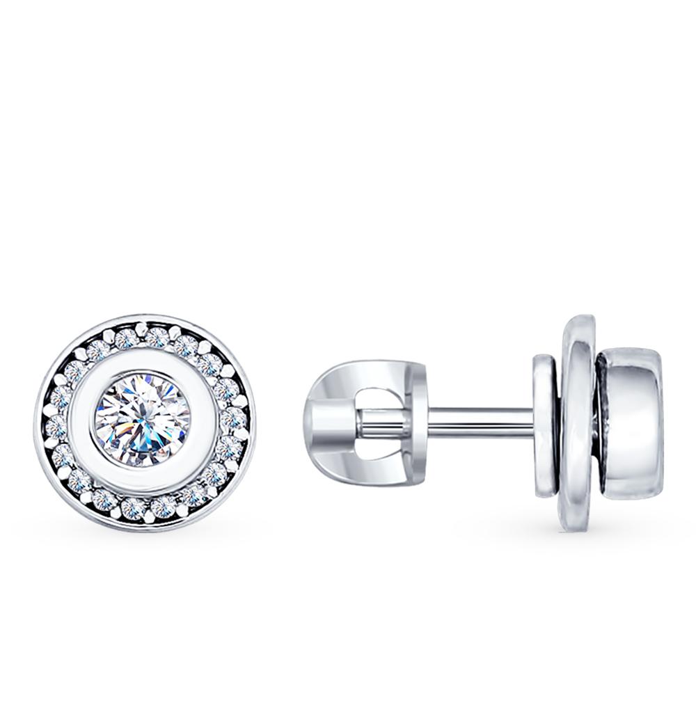 серебряные серьги с фианитами SOKOLOV 94022107