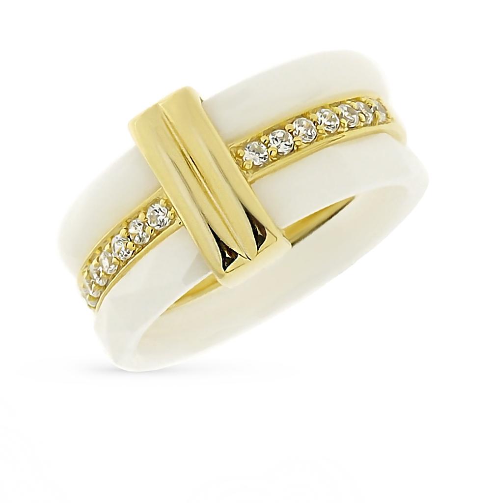 Фото «кольцо из керамики и серебра с алпанитом, серебром, фианитами, изумрудами и бриллиантами»