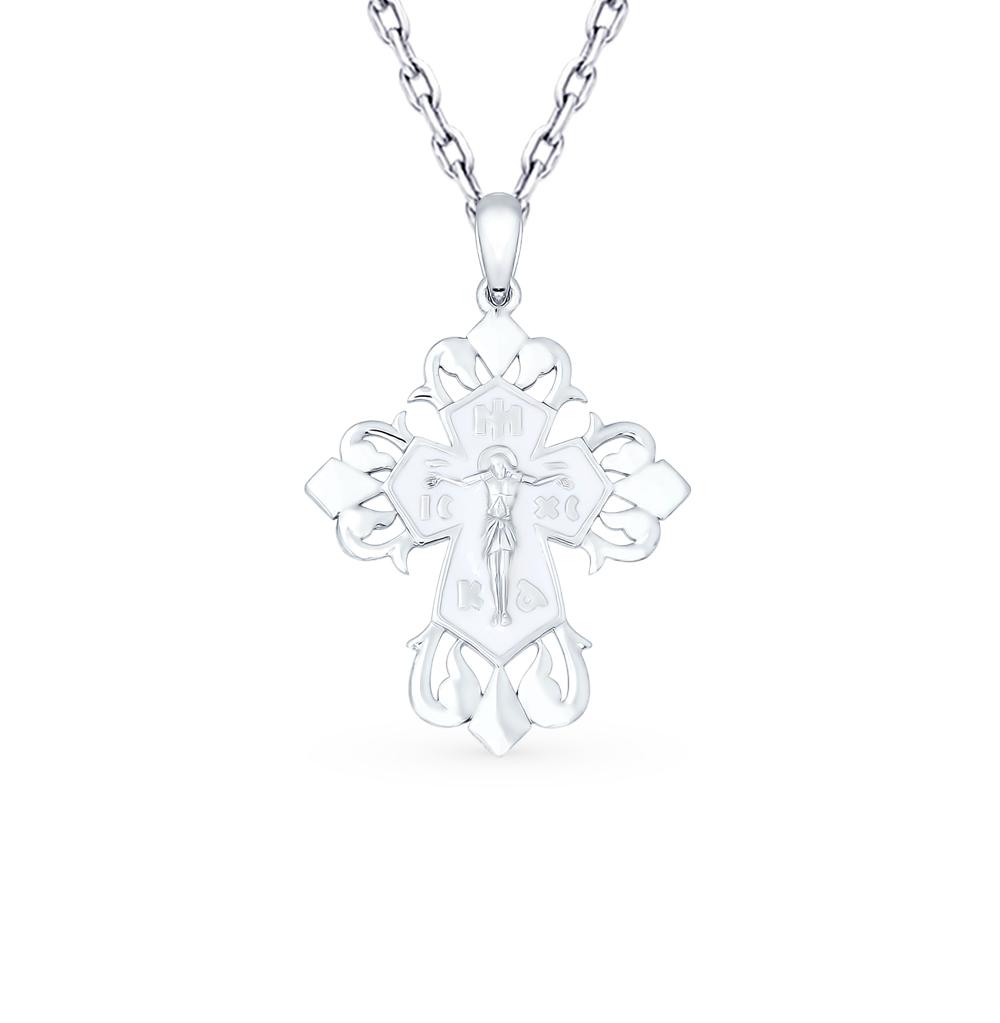 серебряная подвеска с эмалью SOKOLOV 94120133