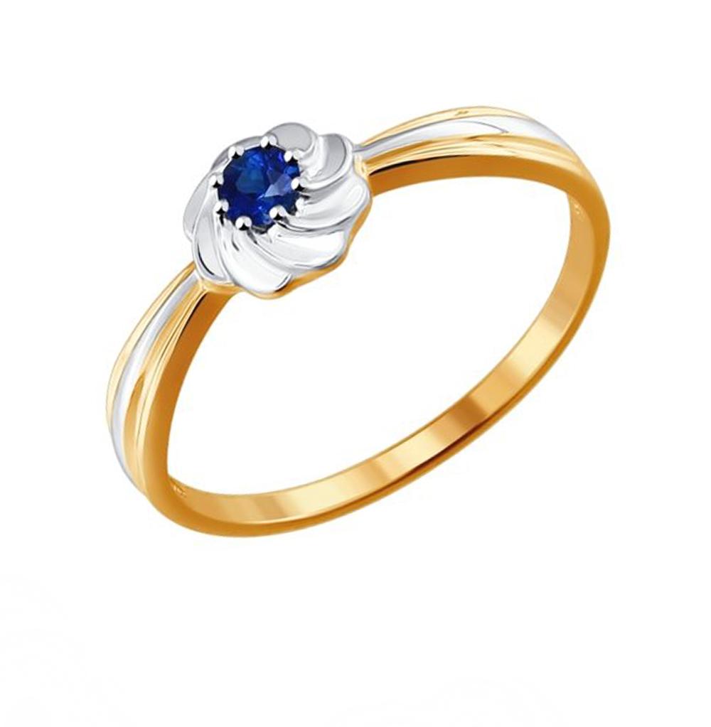 золотое кольцо с сапфирами SOKOLOV 2011032
