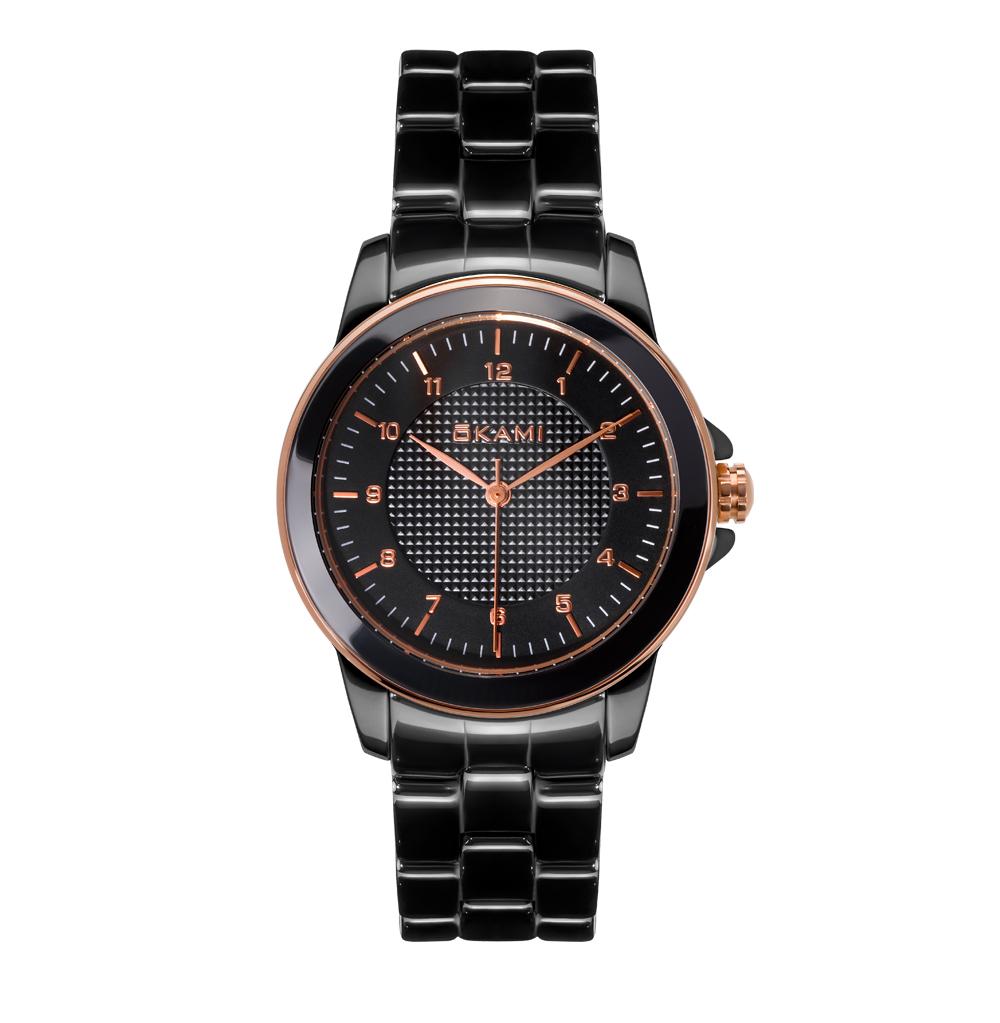 Часы унисекс на керамическом браслете