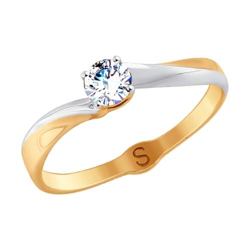 Золотое кольцо с фианитами SOKOLOV 017913* в Екатеринбурге