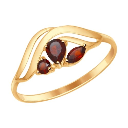 Фото «Золотое кольцо с гранатом SOKOLOV 714615*»