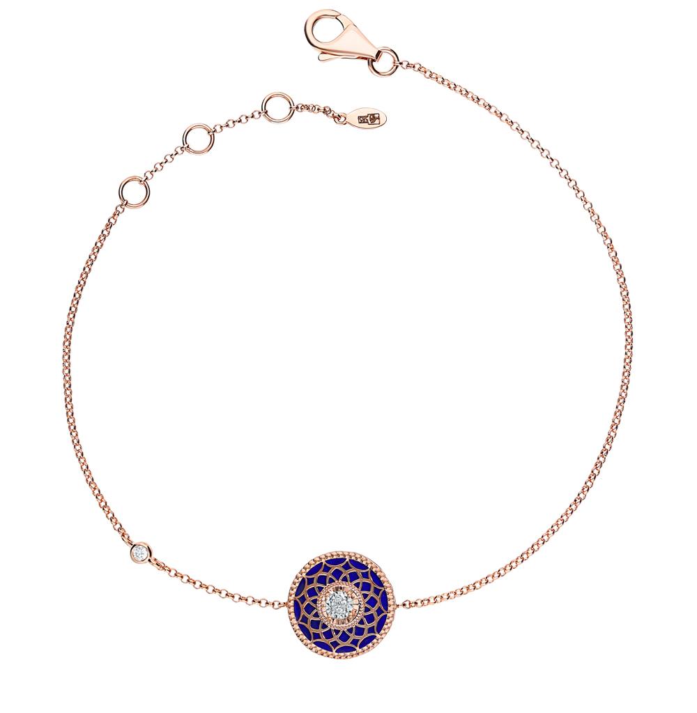 Золотой браслет с лазуритом и бриллиантами в Екатеринбурге