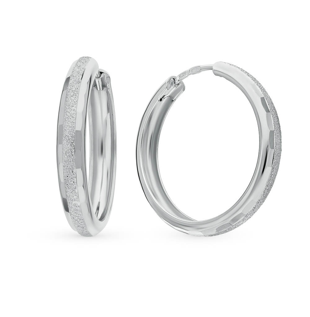 серебряные серьги SOKOLOV 94140063