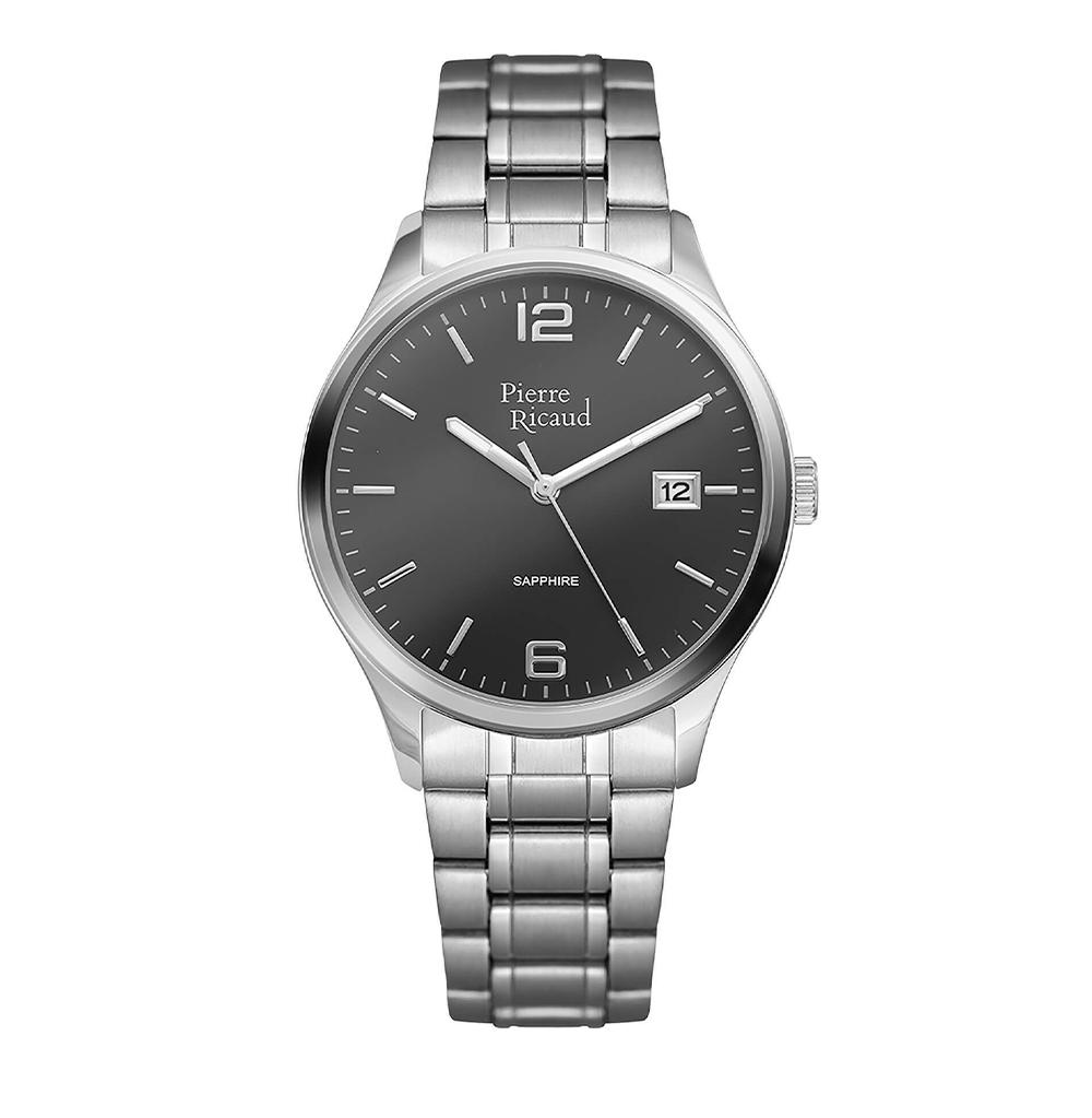 Фото «Мужские кварцевые часы P91086.5156Q на стальном браслете с сапфировым стеклом»