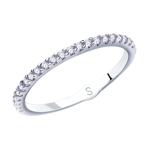 Фото «Серебряное кольцо с фианитами SOKOLOV 94012901»