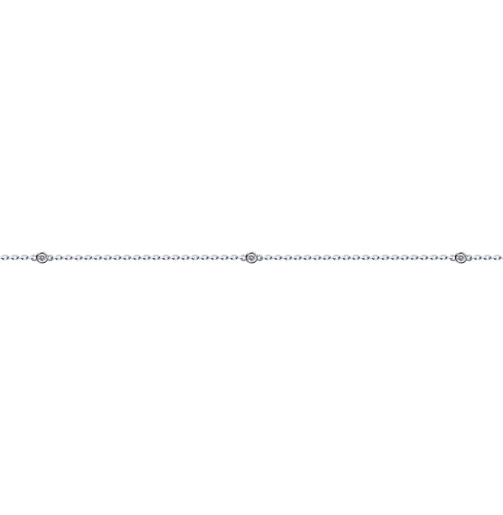 серебряный браслет с фианитами SOKOLOV 94050509