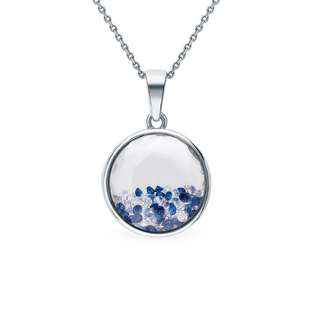 Фото «Серебряное кольцо с фианитами и ювелирными стёклами»