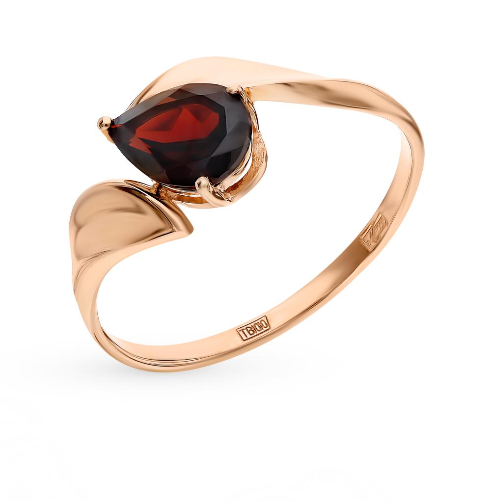золотое кольцо с гранатом SOKOLOV 714868*