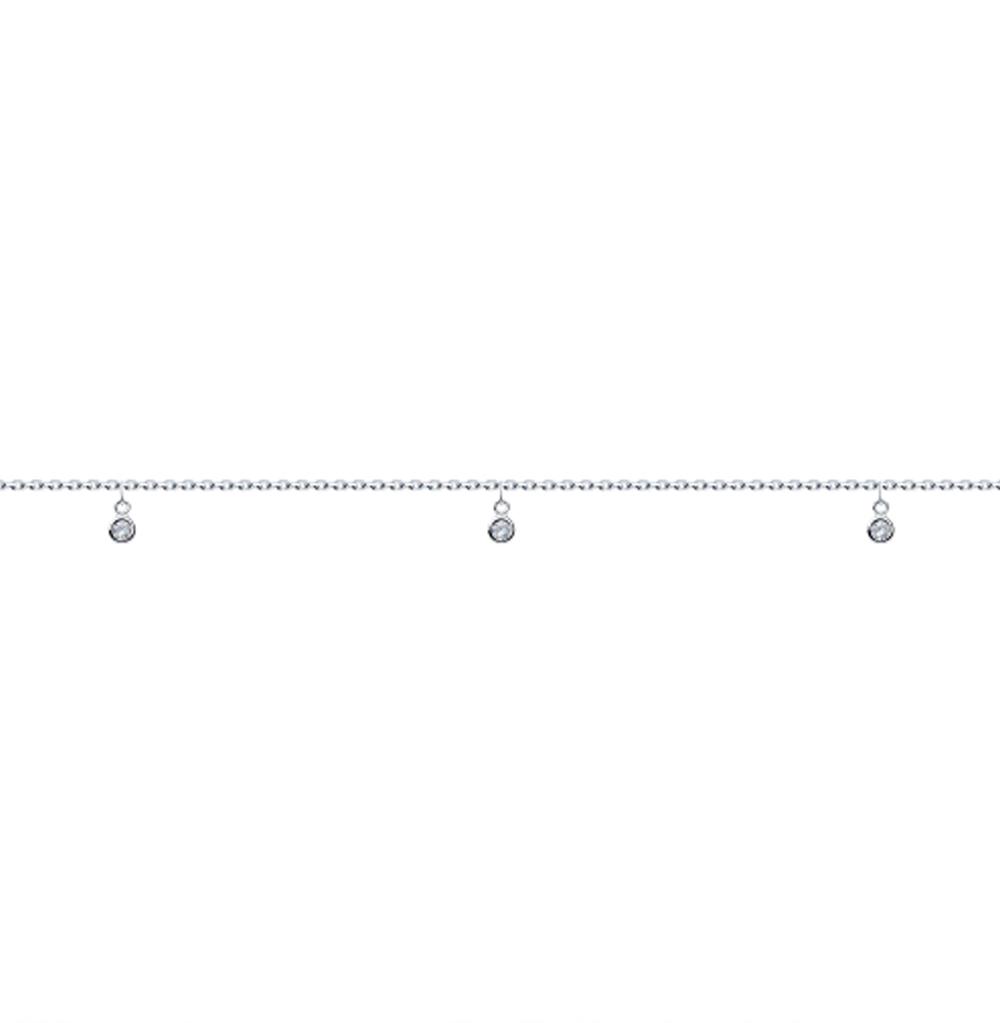 серебряный браслет с фианитами SOKOLOV 94050505