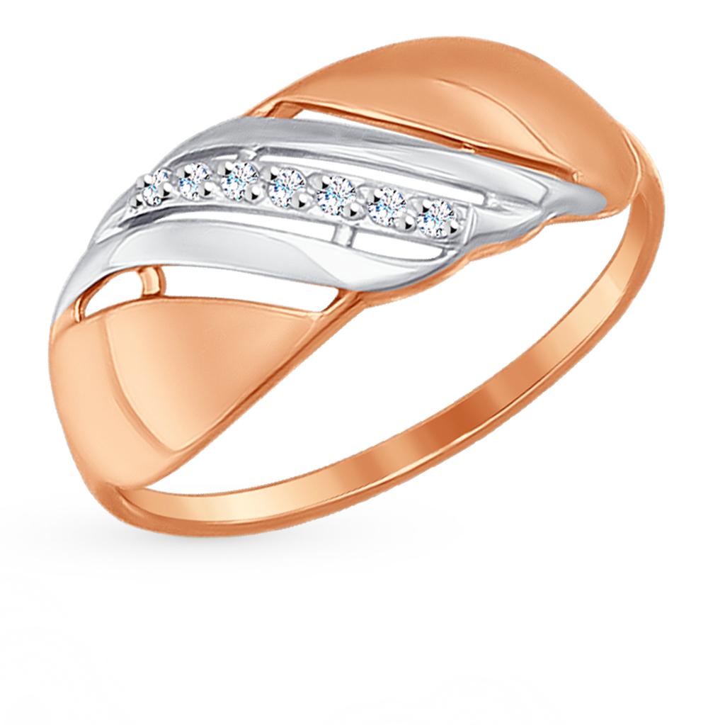 Золотое кольцо с фианитами SOKOLOV 017203* в Санкт-Петербурге