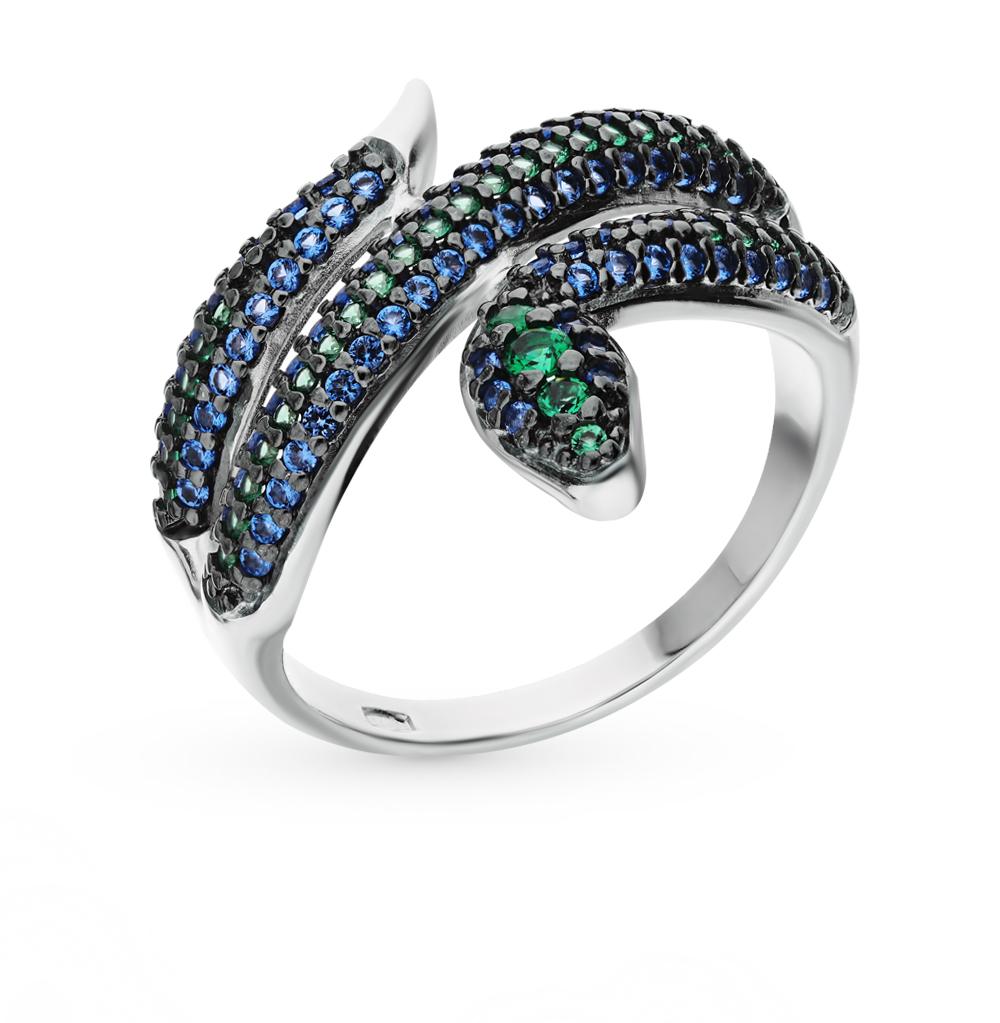 серебряное кольцо с фианитами SOKOLOV 94012578