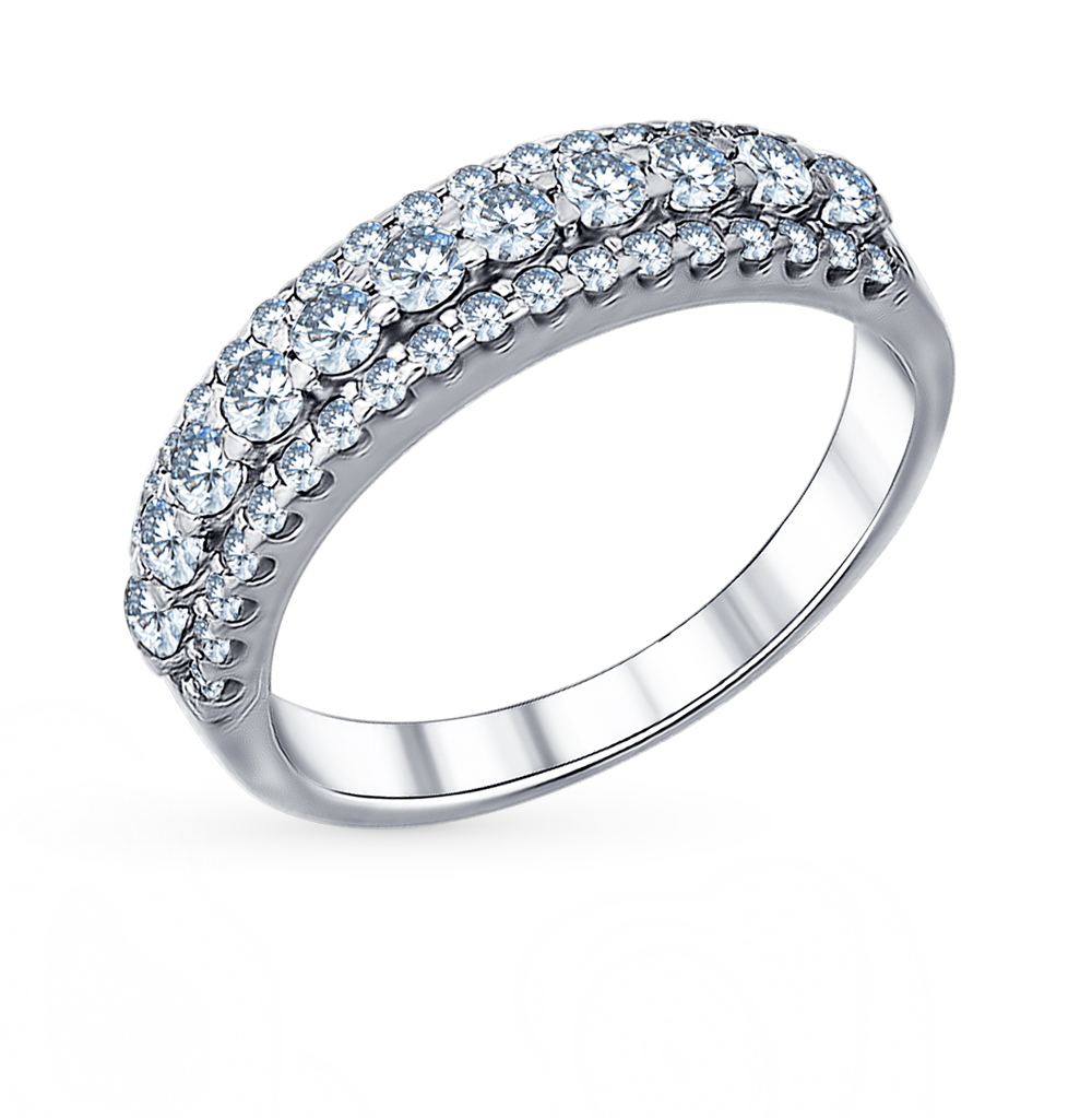 Фото «Серебряное кольцо с фианитами SOKOLOV 94011270»