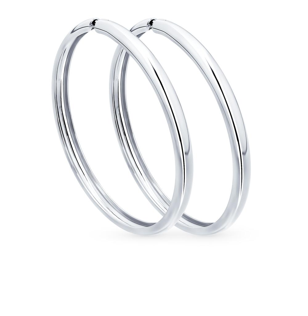 серебряные серьги SOKOLOV 94140010