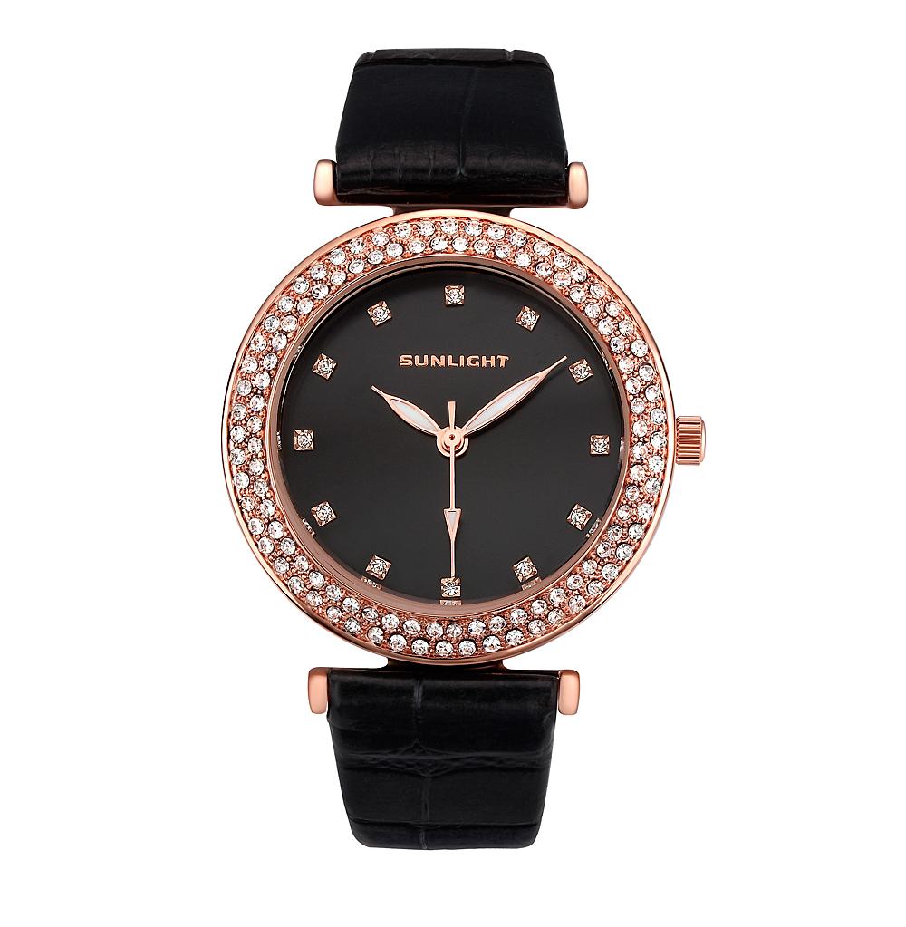 Женские часы с кристаллами на кожаном ремне в Екатеринбурге