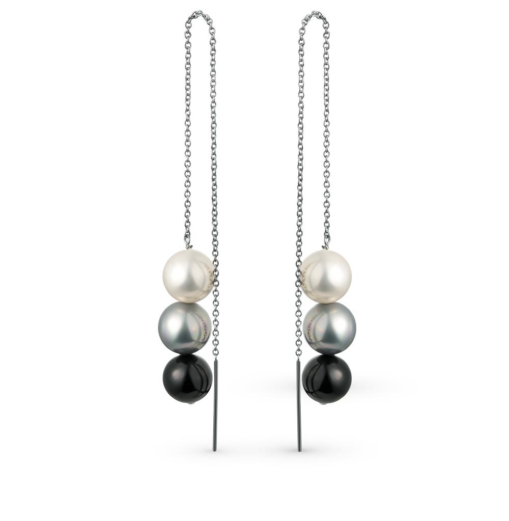 Фото «серебряные серьги с жемчугами имитациями»