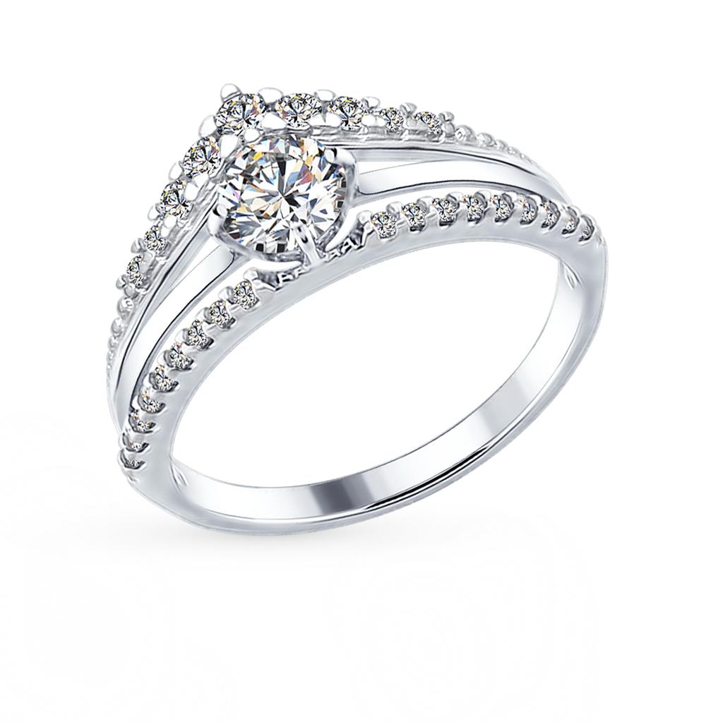 серебряное кольцо с фианитами SOKOLOV 94012282