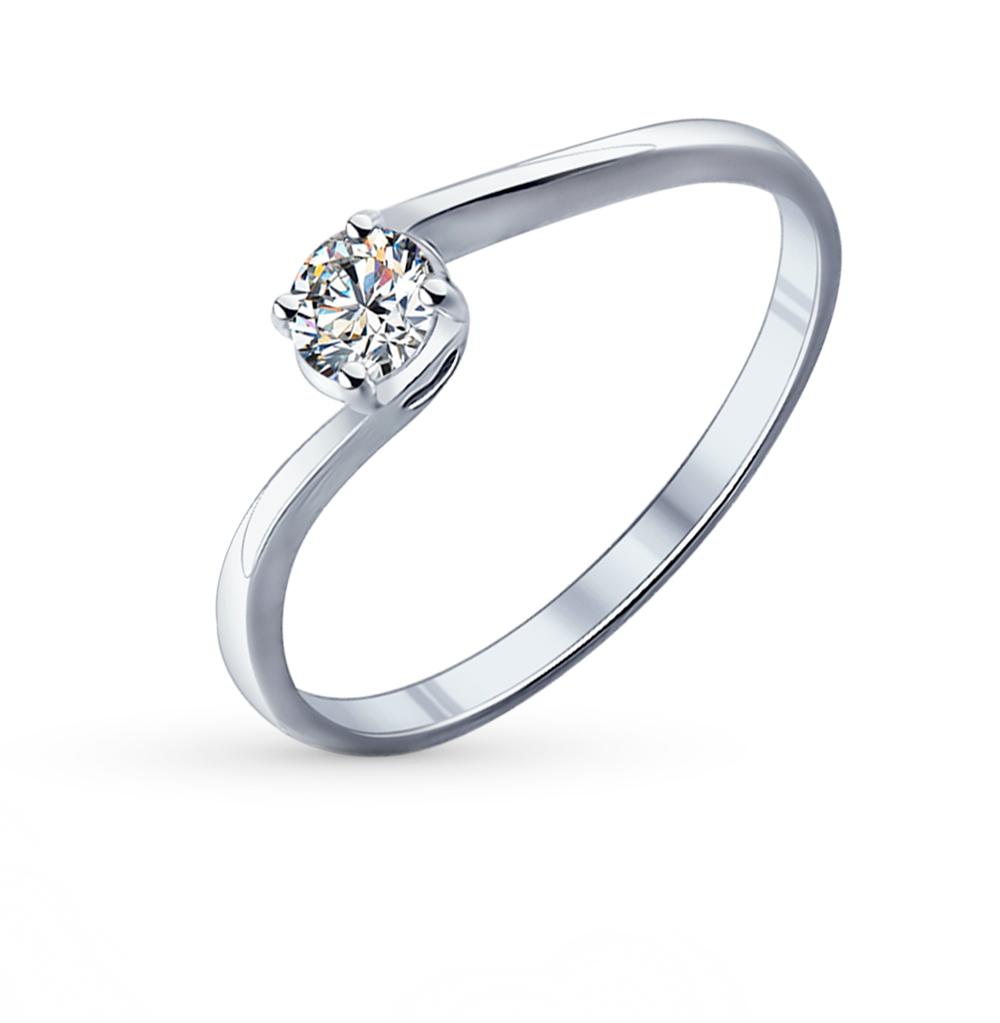 серебряное кольцо с фианитами SOKOLOV 89010026