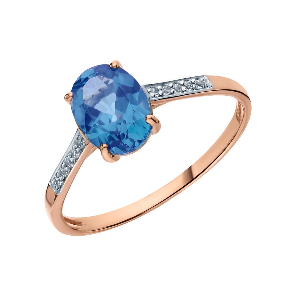 Золотое кольцо с наноситалом (хамелеон) и фианитами в Екатеринбурге