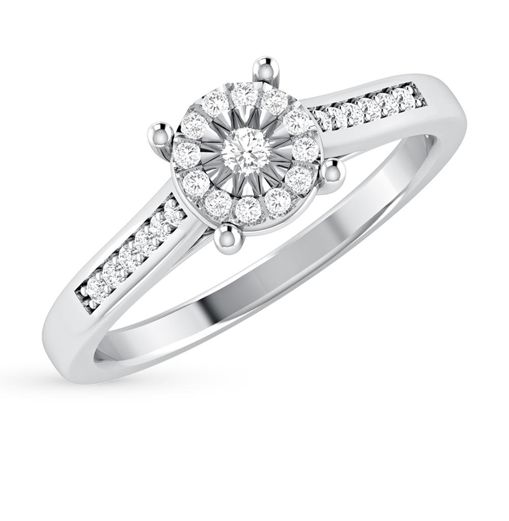 Золотое кольцо с бриллиантами SUNLIGHT  белое золото 585 пробы ... 57146d0217c6d