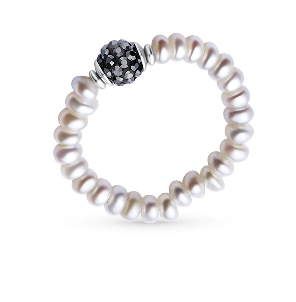 Фото «Металл кольцо с алпанитом и жемчугом»