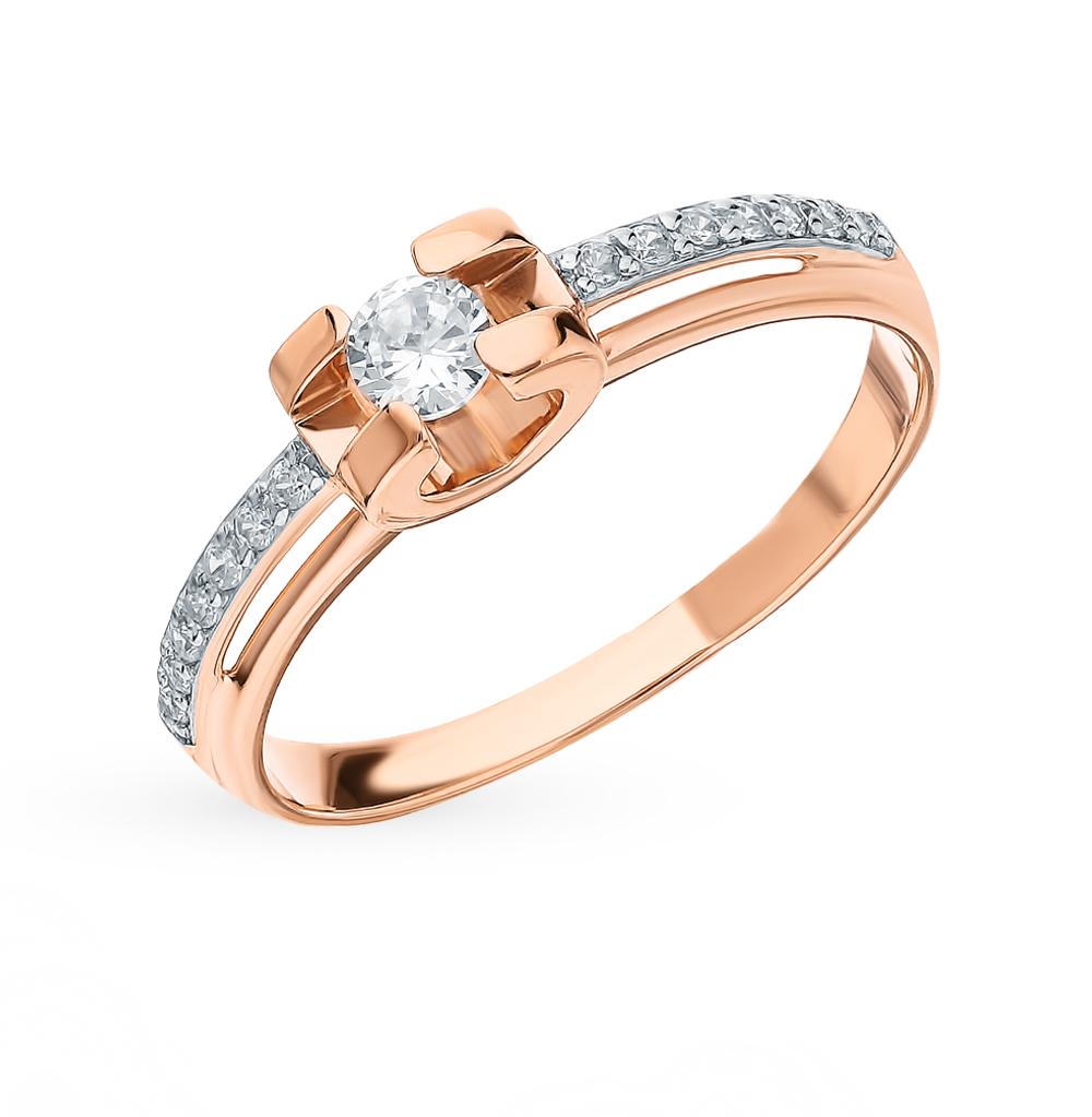 Золотое кольцо с фианитами SOKOLOV 018500* в Санкт-Петербурге