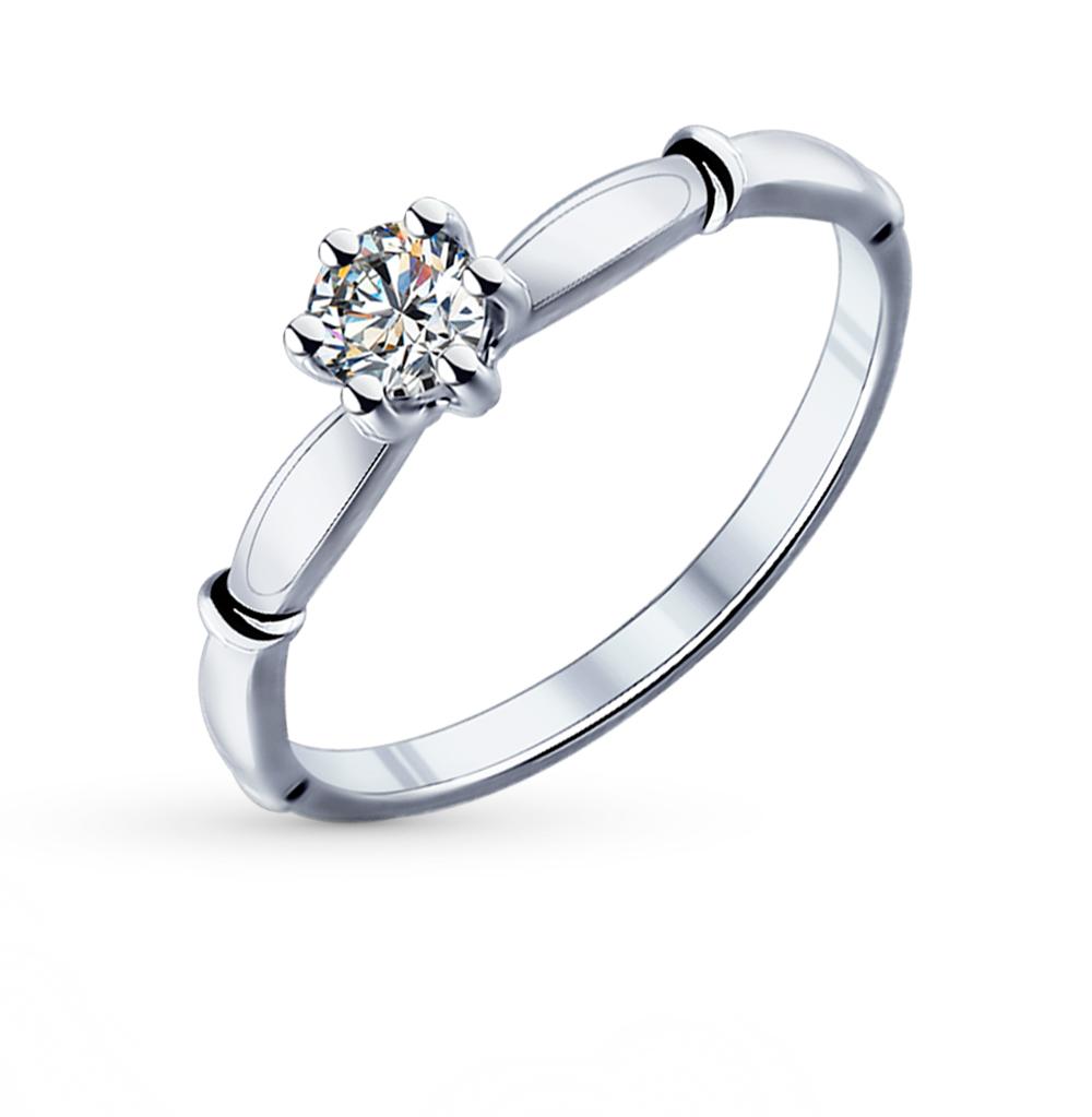 Фото «Серебряное кольцо с фианитами SOKOLOV 89010024»