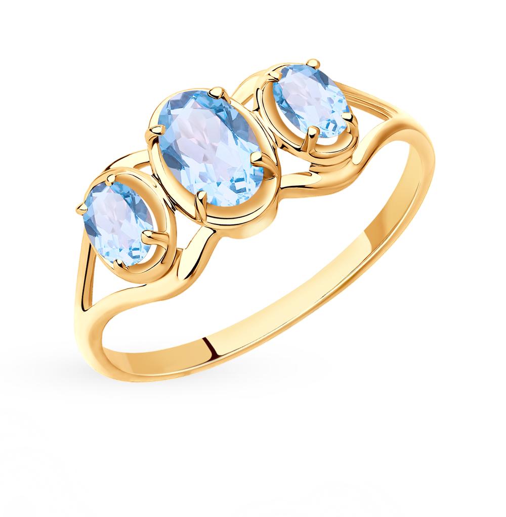 Фото «Золотое кольцо с топазами SOKOLOV 715408*»