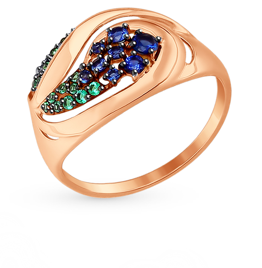 Фото «Золотое кольцо с фианитами SOKOLOV 017390*»