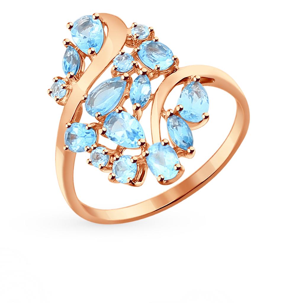 золотое кольцо с топазами SOKOLOV 714282*