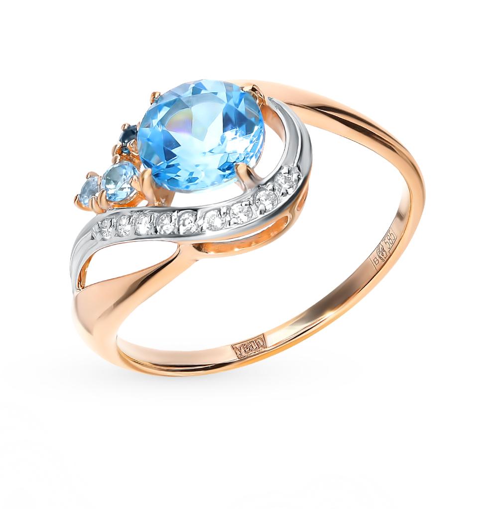 золотое кольцо с топазами SOKOLOV 715047*