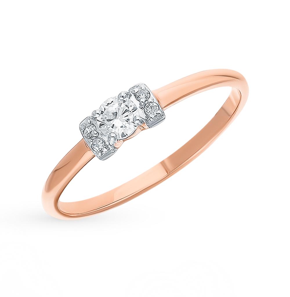 Золотое кольцо с фианитами SOKOLOV 018409 в Санкт-Петербурге