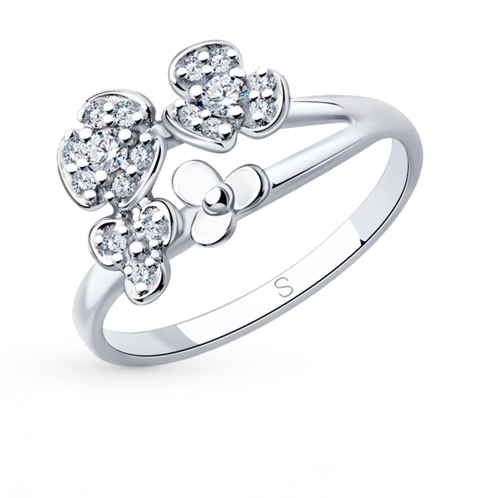 Фото «Серебряное кольцо с фианитами SOKOLOV 94013041»